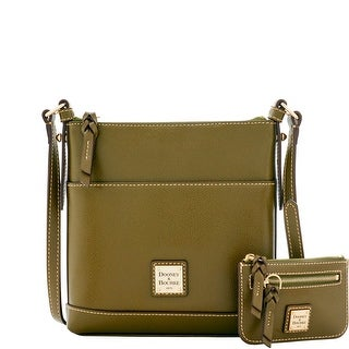 Dooney & Bourke Calf Letter Carrier with Small Coin Case (Introduced by Dooney & Bourke at $195 in Sep 2016) - Olive