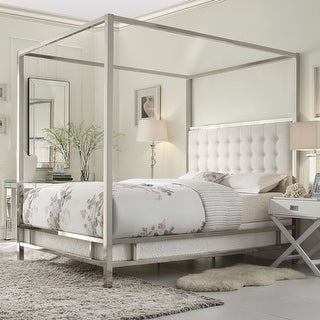 Solivita King-size Canopy Chrome Metal Poster Bed by iNSPIRE Q Bold