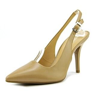 Michael Michael Kors Flex Sling Women  Pointed Toe Leather Tan Slingback Heel