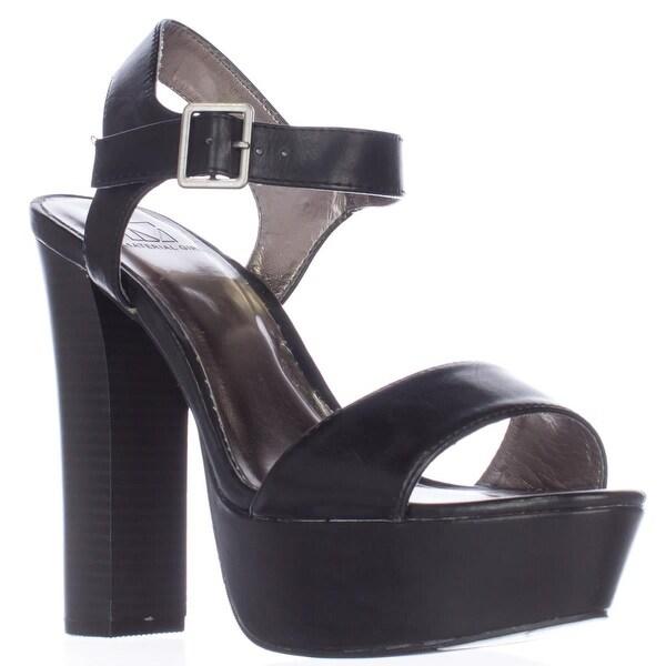 MG35 Ciara Platform Ankle Strap Sandals, Black - 10 us