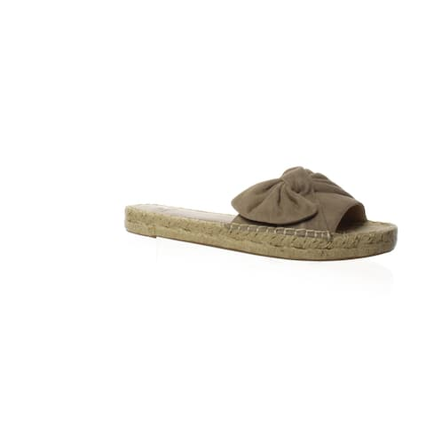 Marc Fisher Womens Valey Cocco Suede Espadrilles Size 6