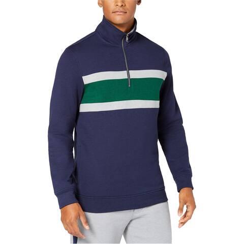 Club Room Mens Fleece Sweatshirt, Blue, Medium