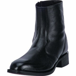 Laredo Western Boots Mens Cowboy 7 Inch Zipper Black Goat