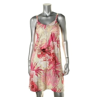 Tommy Bahama Womens Ocho Cotton Pintuck Sundress - XS