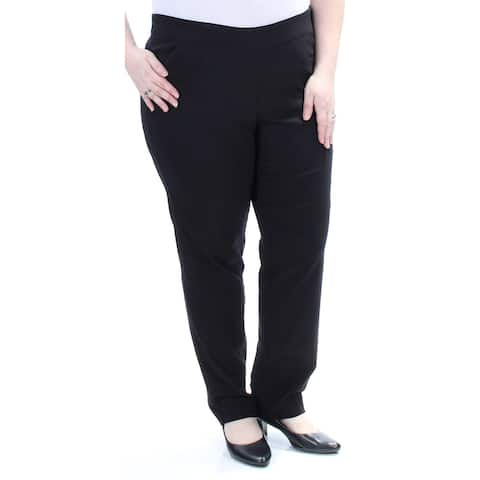 NY COLLECTION Womens Black Straight leg Wear To Work Pants Size 2X