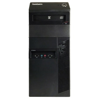 Lenovo ThinkCentre M82 Computer Tower Intel Core I5 3470 3.2G 16GB DDR3 1TB Windows 7 Pro 1 Year Warranty (Refurbished) - Black