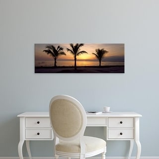 Easy Art Prints Panoramic Images's 'Palm trees on the beach at dusk, Miami, Miami