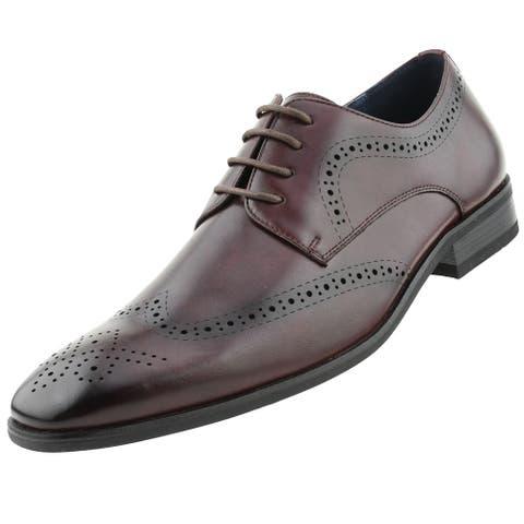 Amali Gardo - Men's Designer Oxford Dress Shoes - Perforated Wing Tip