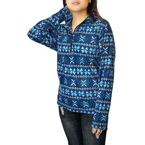 Victory Outfitters Ladies' Patterned Microfleece 1/4 Zip Pullover