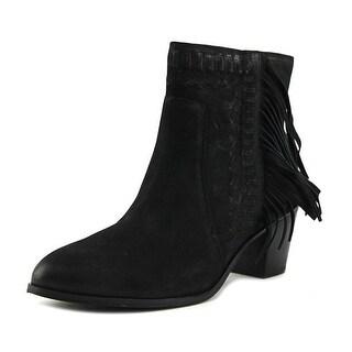Mia Elina   Round Toe Leather  Ankle Boot