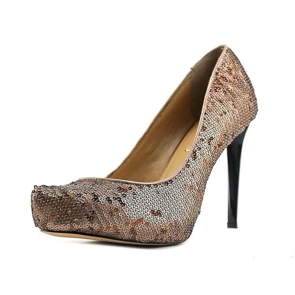 BCBG Max Azria Satori Women Pointed Toe Canvas Bronze Heels