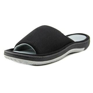 Isotoner A91249 Men Open-Toe Synthetic Slipper