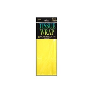 Cindus Tissue Wrap 20x20 10pc Solid Canary Yellow