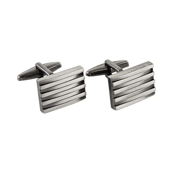 Kenneth Cole Reaction Mens Rocket Torpedo Cufflinks Distressed Stacked