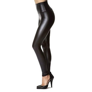 Tagoo Women's Stretchy Faux Leather Leggings Pants, Sexy Black High Waisted T... - 2