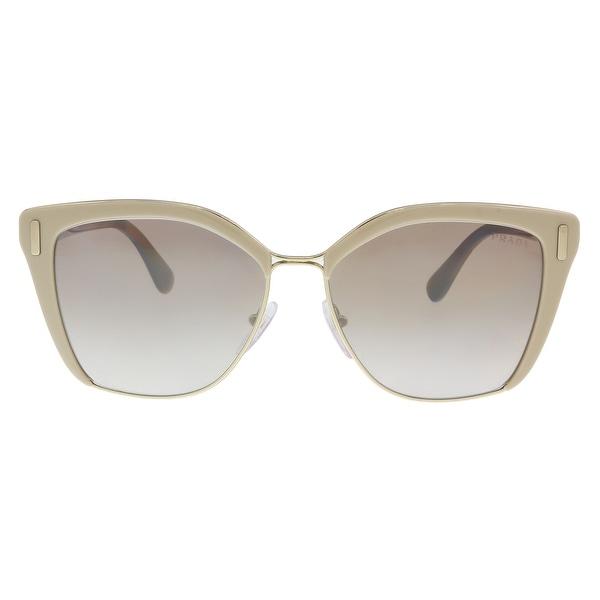 6b2d2eb208b7b Shop Prada PR 56TS VHR4O0 Light brown  Pale gold Cat eye Sunglasses ...