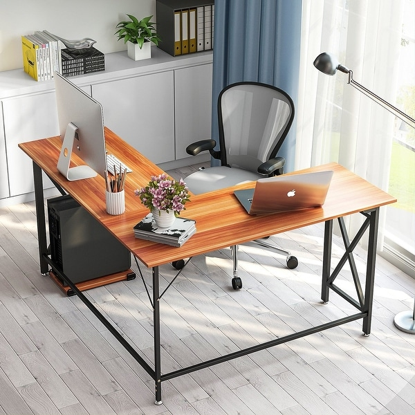 "Shop Large L-Shaped Desk, 60"" Modern L Shaped Corner"
