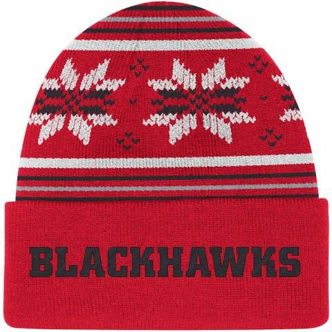 Chicago Blackhawks Red Culture Head Logo Cuffed Knit Hat