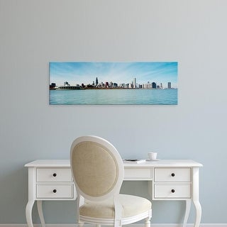 Easy Art Prints Panoramic Images's 'Skyscrapers at the waterfront, Lake Michigan, Chicago, Illinois, USA' Canvas Art