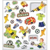 Soccer - Multicolored Stickers
