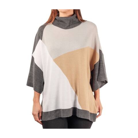 Sag Harbor Misses 3/4 Sleeve Turtleneck Sweater