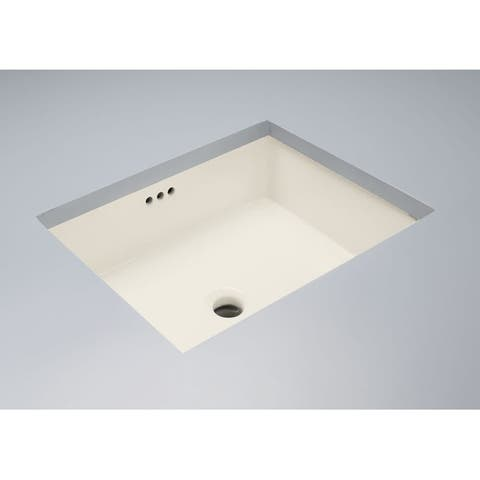 "Mirabelle MIRU1713 17-1/8"" Porcelain Undermount Bathroom Sink with Overflow"