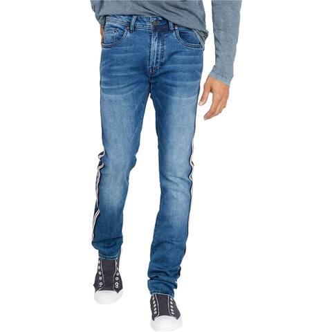 Buffalo David Bitton Mens Ash Slim Fit Jeans, Blue, 42W x 30L