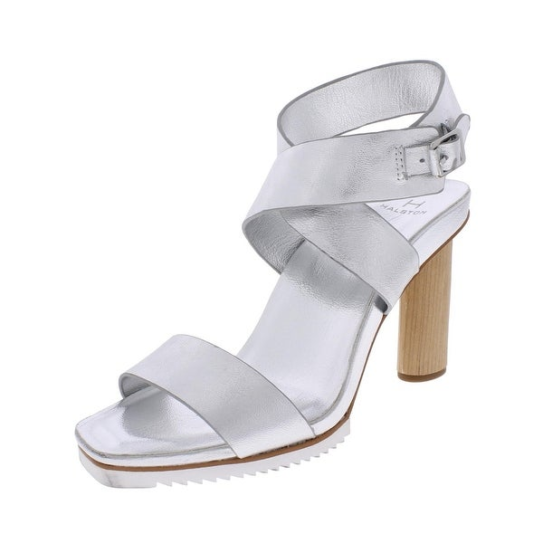 H Halston Womens Nala Dress Sandals Square Toe Ankle Cuff - 7.5 medium (b,m)