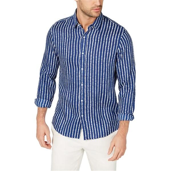 Michael Kors Mens Dots Button Up Shirt. Opens flyout.