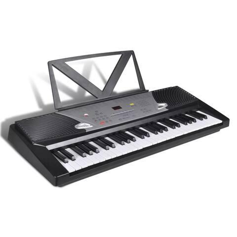 vidaXL 54 Piano-Key Electric Keyboard with Music Stand