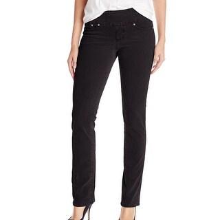 Jag NEW Black Women's Size 10 High Rise Peri Straight Corduroys Pants