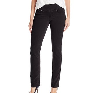 Jag NEW Black Women Size 10 High Rise Pull-On Straight Corduroys Pants