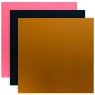 "Silhouette Curio Metal Etching Sheets 5""X7"" 3/Pkg-Black, Gold, Pink"