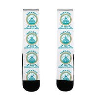 Mermaids For Lesbian Atlantis US Size 7-13 Socks by LookHUMAN