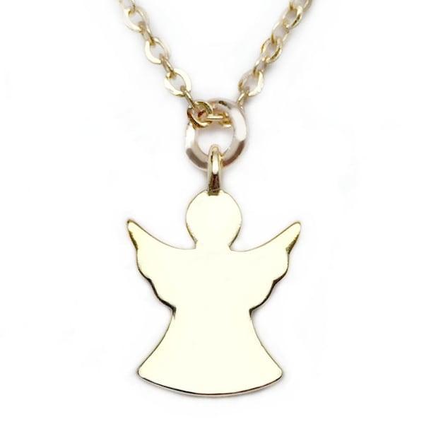 """Julieta Jewelry Angel Gold Charm 16"""" Necklace"""