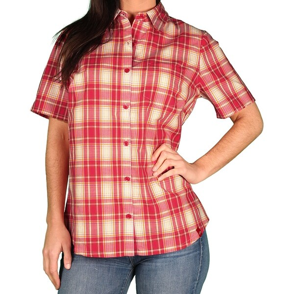 2681837d523f4 Shop Dickies Womens Short Sleeve Plaid Blouse - Ships To Canada ...