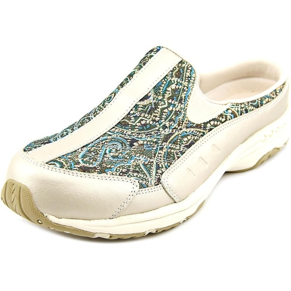 Easy Spirit Traveltime Women Round Toe Canvas Green Mules