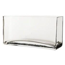 "CYS® Rectangle Vase. H-5"", Open-10"" x 3.15"" (1 PC)"