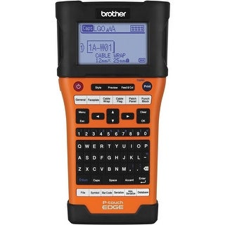 Brother Pt-E500 Industrial Handheld Labeling Tool W/ Auto Cutter & Computer Connectivity