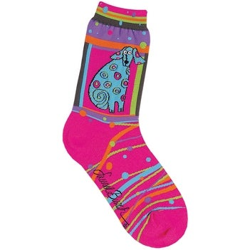Laurel Burch Socks-Matisse - Magenta
