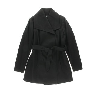 Halifax Womens Wool Blend Lined Trench Coat