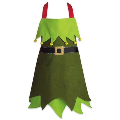 Christmas Elf Appliquie Children Apron
