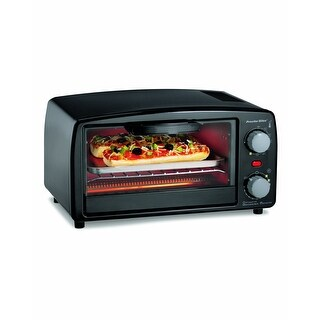 Proctor Silex 31118Y Toaster Oven and Broiler, 4 Slice, Black