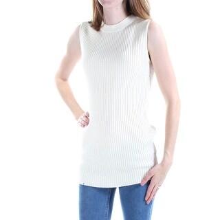 RALPH LAUREN $155 Womens New 1405 Ivory Crew Neck Sleeveless Sweater XS B+B