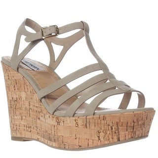 Steve Madden Nalla Wedge Strappy Sandals, Taupe