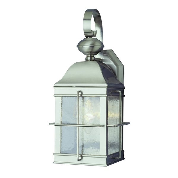 Trans Globe Lighting 4632 Traditional 1-Light Down Lighting Outdoor Wall Sconce - Brushed nickel - n/a