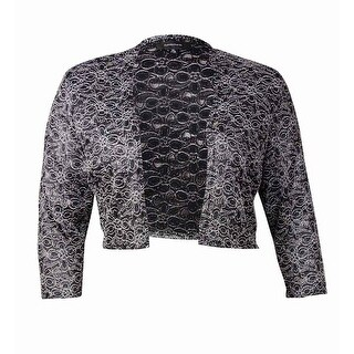 R & M Richards Women's Lace Blouse - Black/White (2 options available)