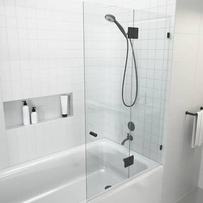 "Glass Warehouse 58.25"" x 34"" Frameless Shower Bath Door - Glass Hinge"