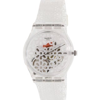 Swatch Women's Originals GE243 White Plastic Quartz Fashion Watch