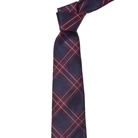 Brooks Brothers Blue Check Silk Tie - os